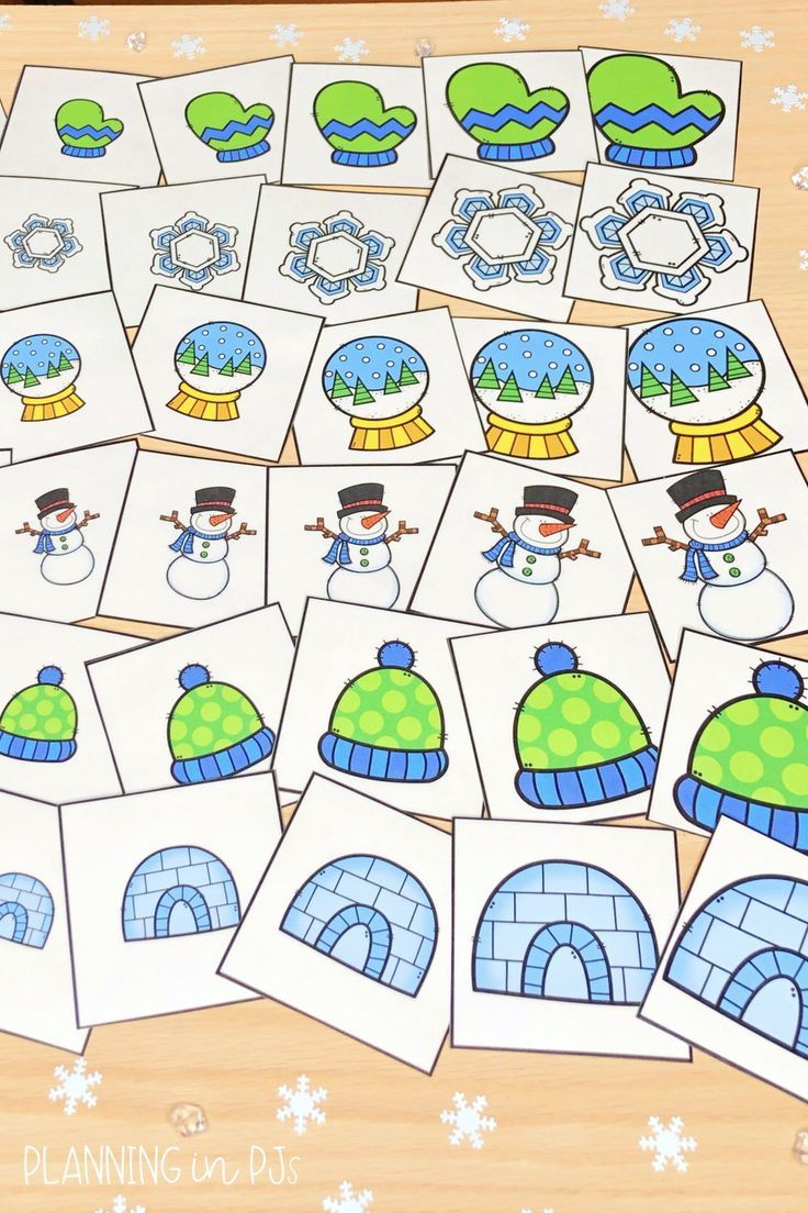 Winter Size Ordering Bundle From Smallest To Largest In 2021 Winter Theme Kindergarten Games Winter Math