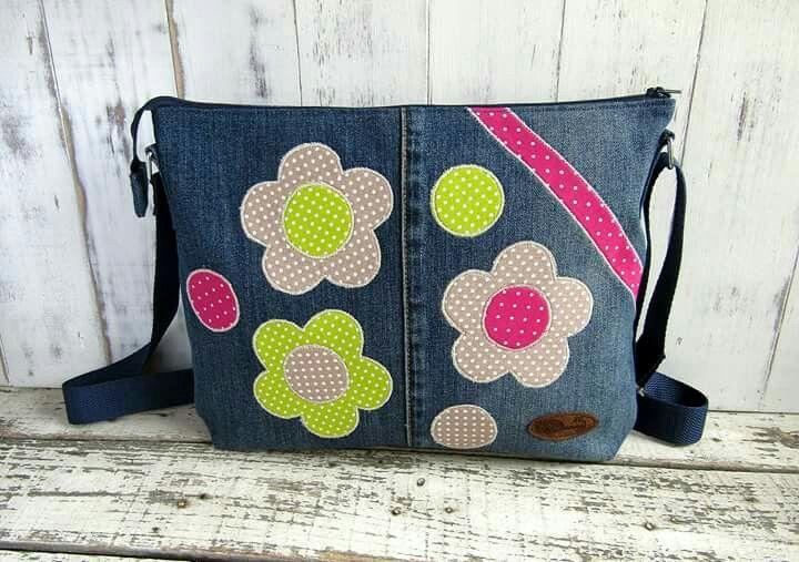 Bag with flower, virágos táska