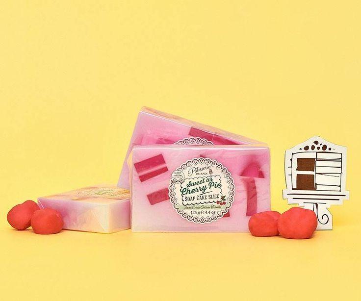 Sweet As Cherry Pie soap cake slice