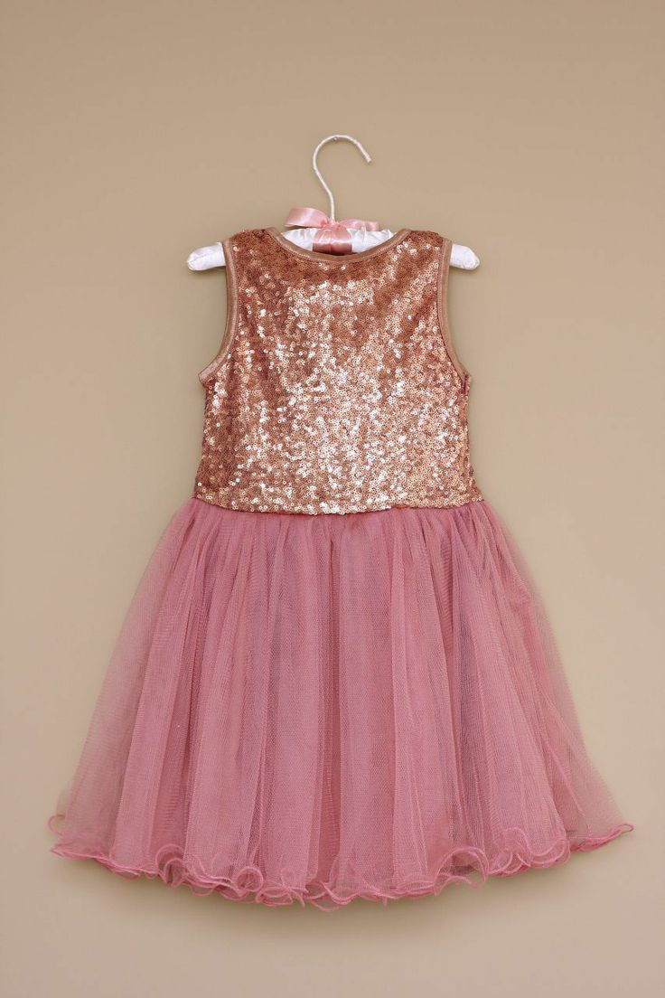 Over the Loom - Sequin Tulle Party Dress ~ Pink $34.94 (http ...