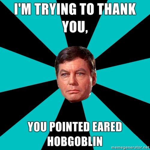 It's a Star Trek meme kind of night...