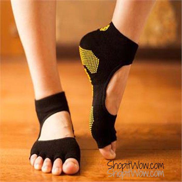 Yoga Socks Toeless Socks Best Grip Socks Five Toe Socks Pilates Socks