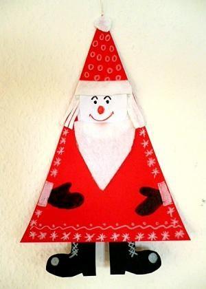 Nikolaus mit Sack und Schlitten - Weihnachten-basteln - Meine Enkel und ich - Made with schwedesign.de