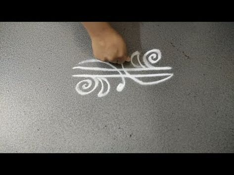 Different types of rangoli design borders || easy rangoli designs side borders by VGS Home Channel - YouTube