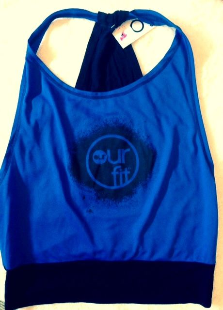 Our Fit Blue Backless Top