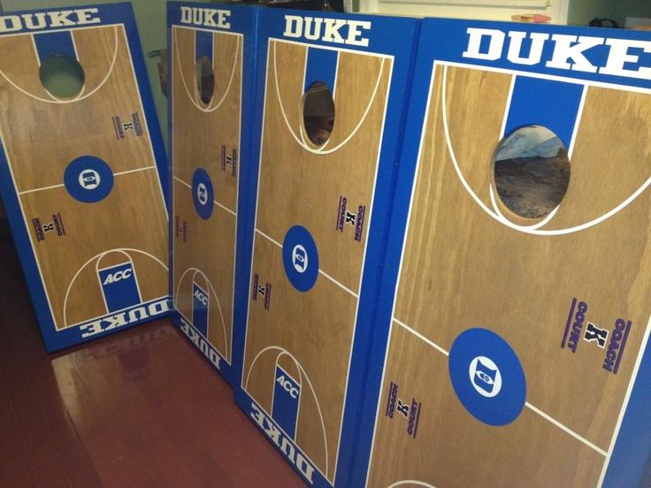 Duke cornhole boards from Great Lakes Cornhole: http://www.greatlakescornhole.com/