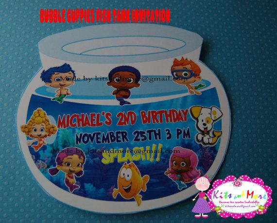 107 best images about bubble guppies party planning on for Bubble guppies fish