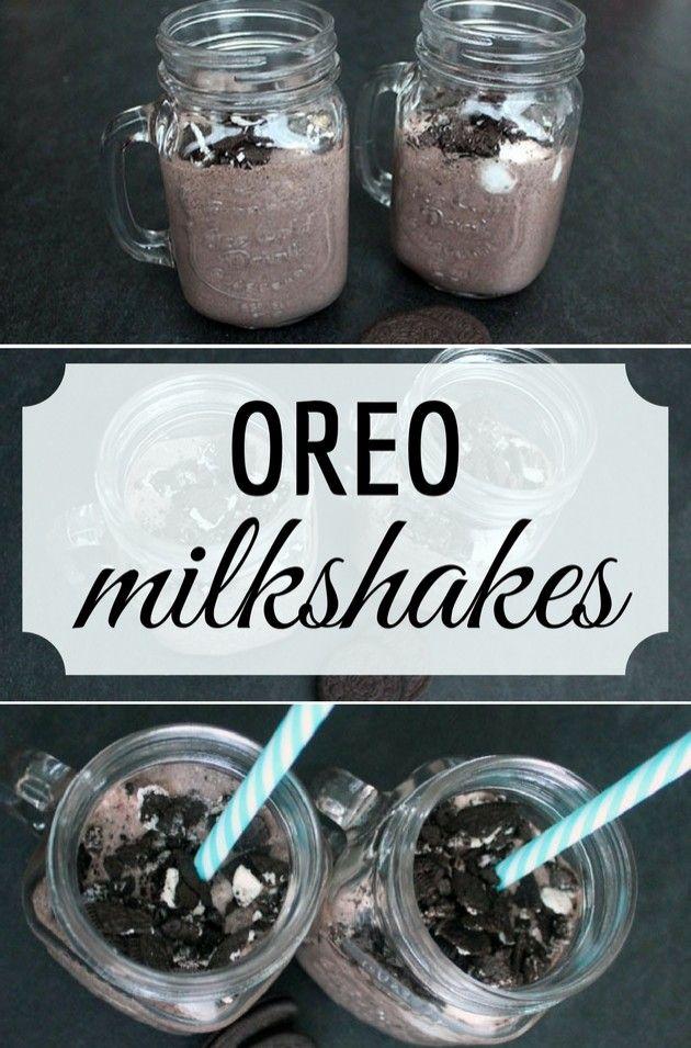 Suverænt den bedste opskrift på Oreo milkshakes, jeg nogensinde har lavet. Og så er de endda super nem, for man skal kun bruge tre ingredienser.