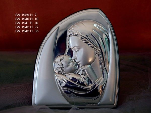 Icona Sacra Madonna col Velo;Sima Argenti; :: Casa Del Regalo
