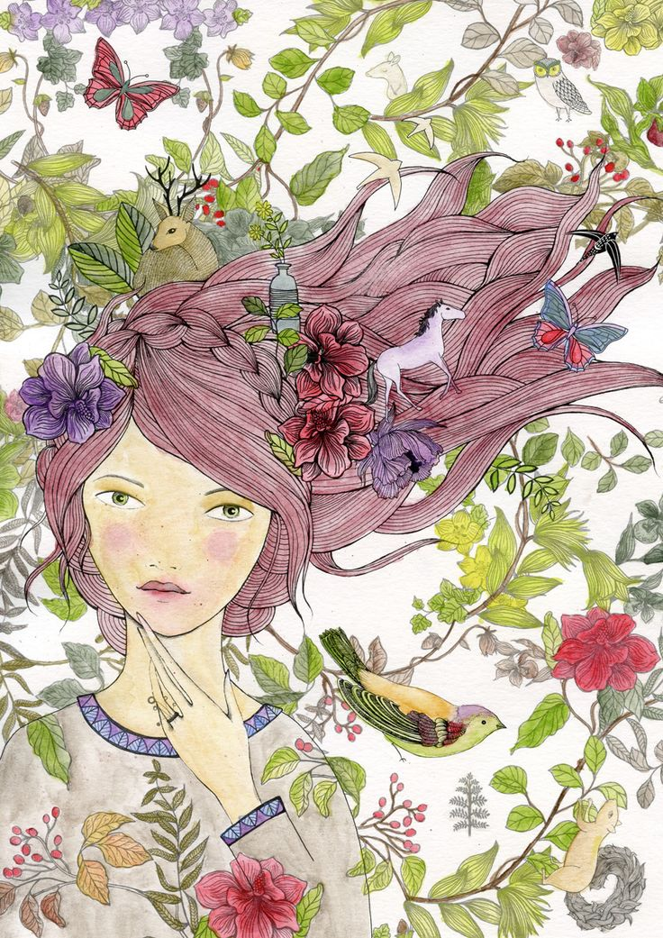 cuquiland: María Azorín (Lámina «Ilustrando con ... Lady Desidia»)