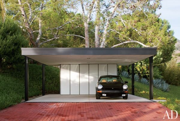 Affordable option - carport style with storage at the back. Very clean and minimal looking.