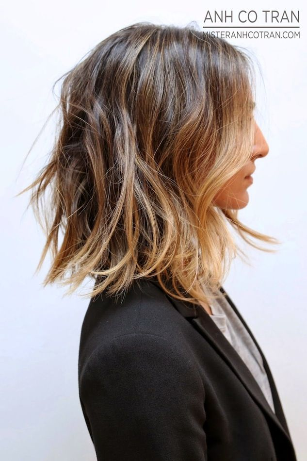 Hair Inspiration: Long Subtle Ombre Bob #wavyhair #sombre #hairspiration