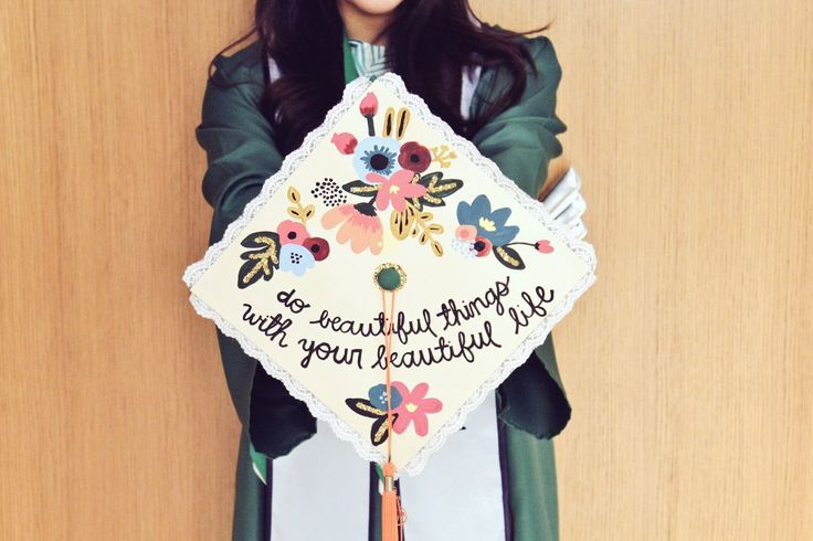 @maddenmelinda's do beautiful things with your beautiful life UNT grad cap
