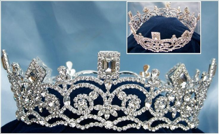 Georgina Regal Rhinestone Pageant FULL Crown
