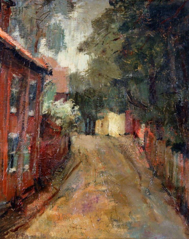 "lawrenceleemagnuson: "" Robert Falk (Russia 1886-1958) Summer in the Village (1945) oil on canvas 40 x 32.5 cm """