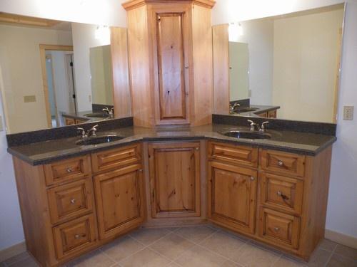 Dig this corner vanity148 best Bathroom designs images on Pinterest   Master bathrooms  . Double Sink Corner Vanity. Home Design Ideas