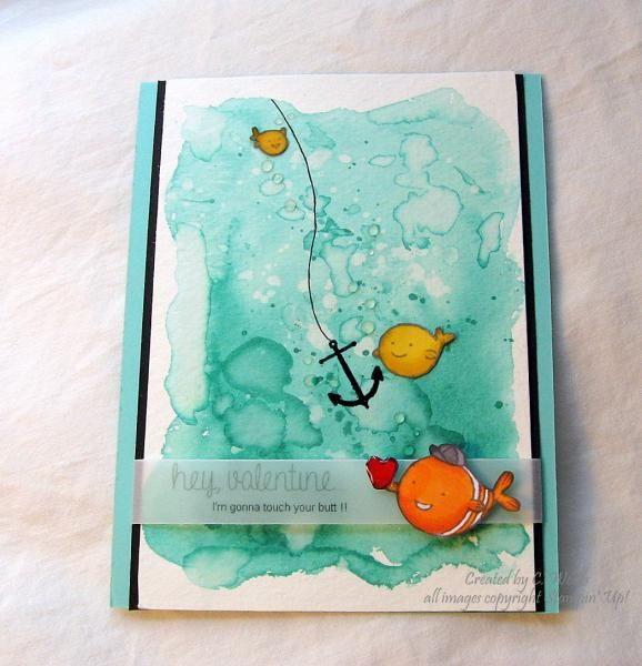 Creative Crew - Nemo's Valentine by Weekend Warrior - Cards and Paper Crafts at Splitcoaststampers