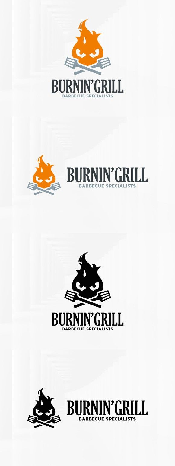 Burning Grill Logo Template. Logo Templates. $29.00