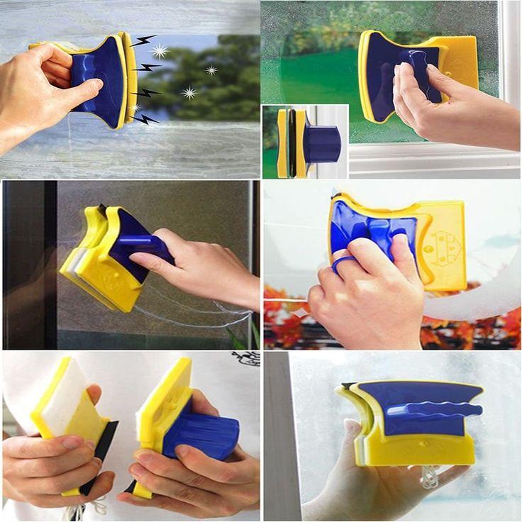 Limpa Vidros Seguro Magnético Imã Apartamento Janela Casa - Utifácil
