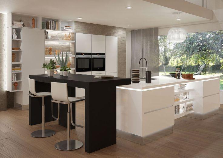 Meer dan 1000 idee n over barkrukken keuken op pinterest barkrukken ontlasting en barkrukken - Open keukeninrichting ...