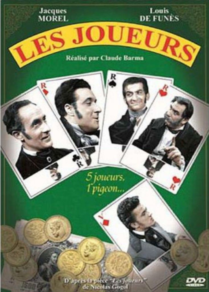 Les Joueurs est un téléfilm français de Claude Barma adapté de la pièce éponyme de Nicolas Gogol et diffusé en 1950. Ikharev, tricheur professionnel rencontre trois amateurs de cartes aussi habiles et malhonnêtes que lui. Il s'associe à eux pour partager les bénéfices tirés de la candeur d'un cinquième joueur. Ils le trouvent rapidement et lui vident sa bourse. Ikharev exulte,