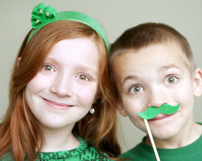 St. Patrick's Day Hair Accessories www.fiskars.com