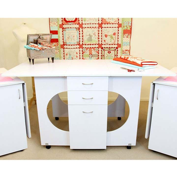 Charming Sewing Machine Cabinets   Tailormade Cutting Table In White Or Teak, Call  877 530 6592 For Pricing (http://www.sewingmachinecabinets.com/tailormadeu2026