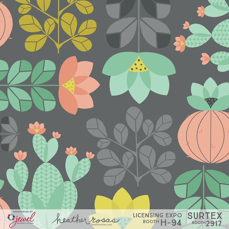 """0 Likes, 1 Comments - Heather Rosas (@heatherrosasart) on Instagram: """"Cactus Garden from my Alpaca Parade Collection. I loved working in this trending color palette of…"""""""