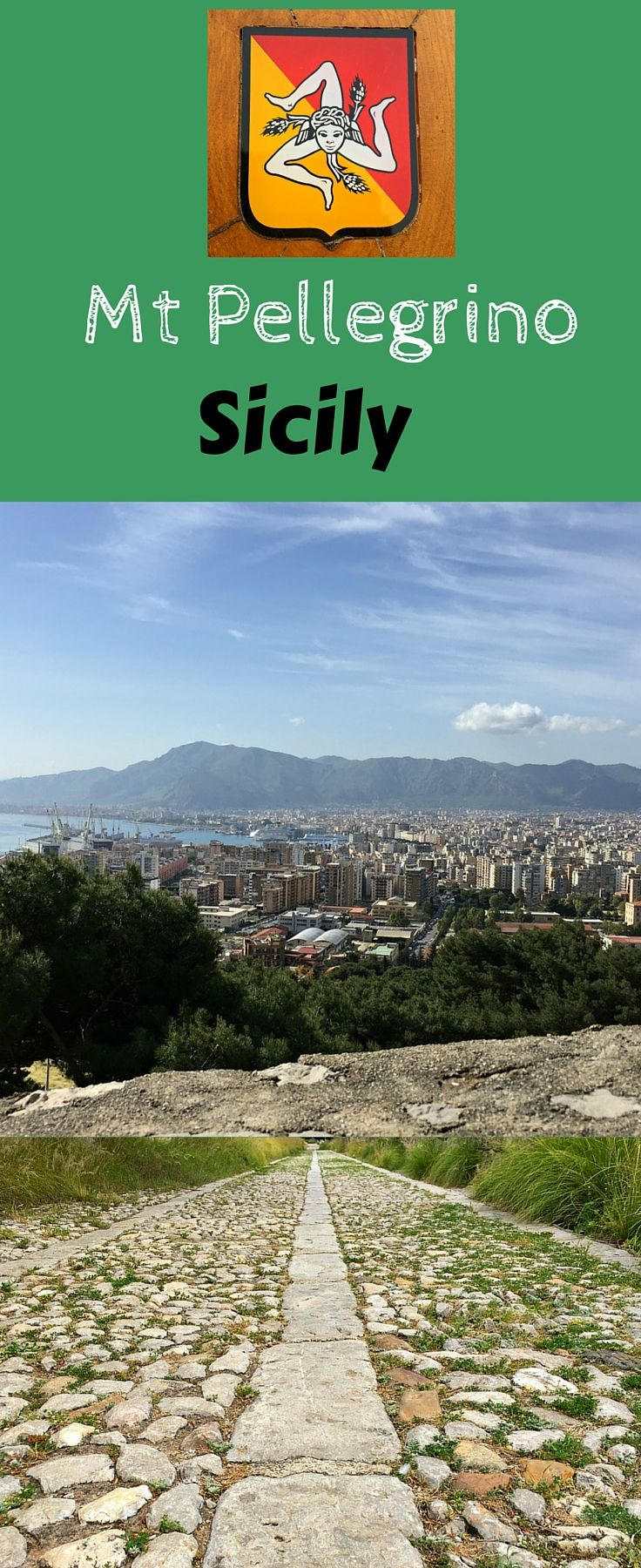 Mount Pellegrino in Palermo Sicily has a well paved hiking trail and provides the chance to visit the Sanctuary of Rosalia, Palermos' Patron Saint. If you love to hike, don't miss this top thing to do in Palermo, Sicily. Click to find out more  @venturists