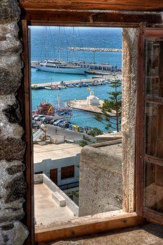 A glimpse of Naxos Town...