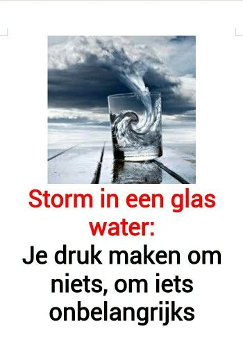 storm in glas water