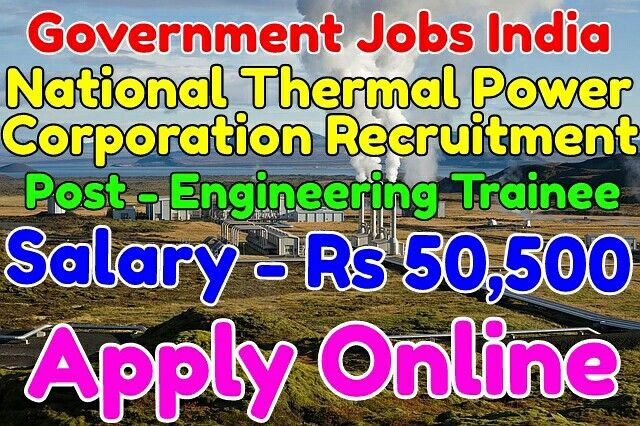 National Thermal Power Corporation Recruitment Notification 2017 Name of post - Engineering Trainee  Salary - Rs 24,900 - 50,500 Total vacancies - 120 Last Date - 31-01-2017 Apply from given link in bio http://jobsgovind.blogspot.com