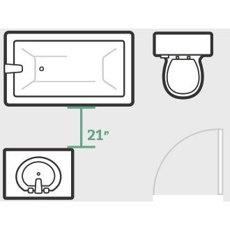 Check out these five bathroom floor plan tips to ensure that all of your major bathroom fixtures will fit.