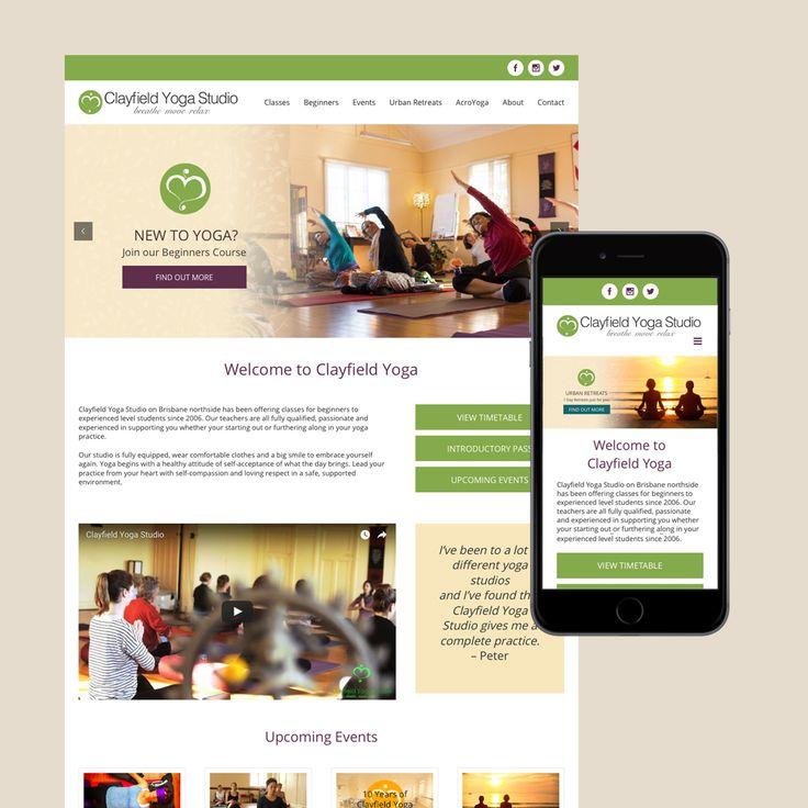 Clayfield Yoga studio website.
