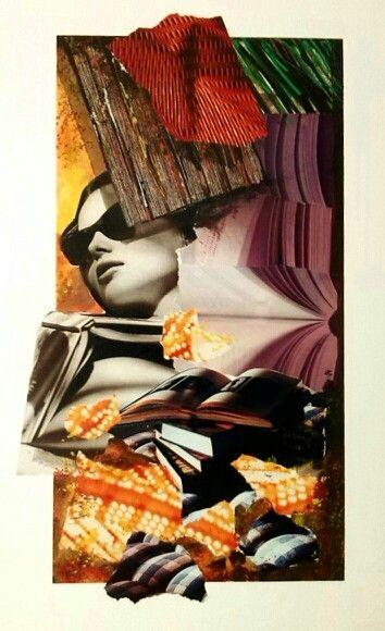 Controra...Collage cm.50*35 autore Toto Dinoi