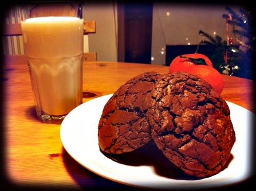 White & black chocolate cookies