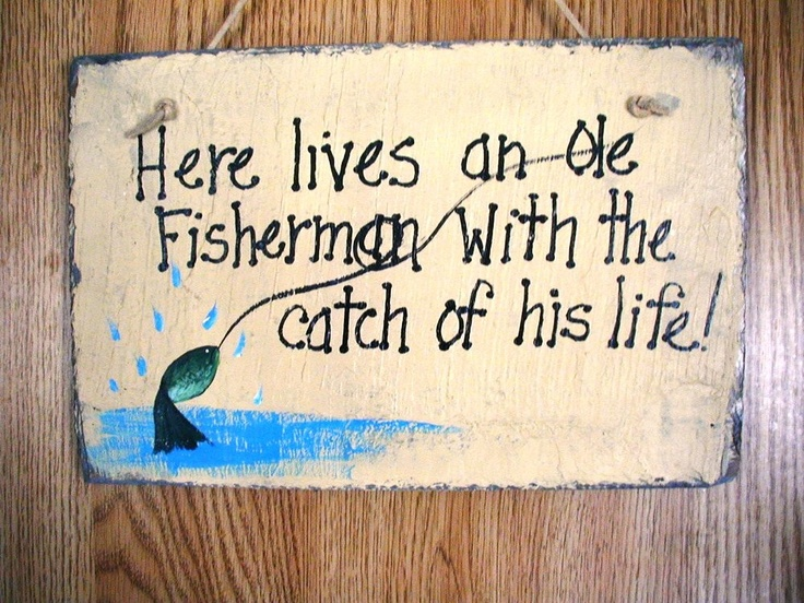 Fishing sign man cave sign fathers day gift grandpa by for Fishing man cave