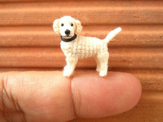 Miniatuur witte Labrador Retriever - kleine haak hond opgezette dieren - Made To Order