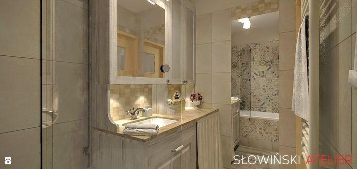 Łazienka w blokach - zdjęcie od Atelier Słowiński - Łazienka - Styl Prowansalski…