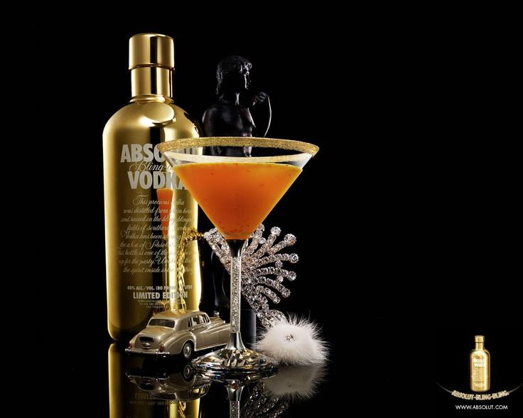 Absolut Vodka Bling Bling Gold Edition.
