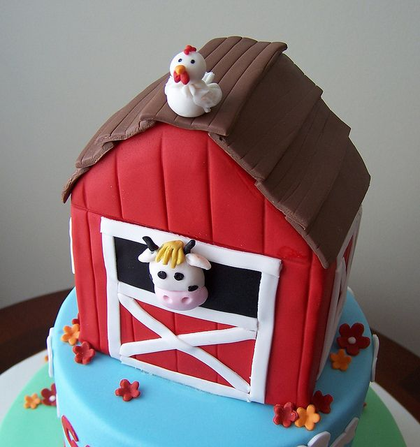 Barn cake by cakespace - Beth (Chantilly Cake Designs), via Flickr