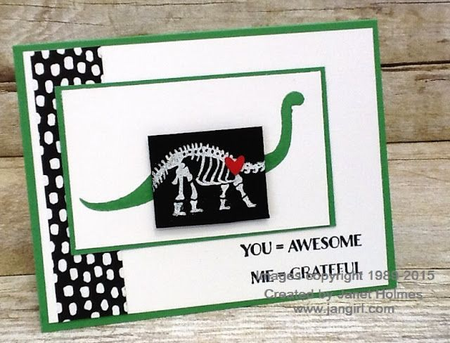 Jan Girl: Stampin' Up No Bones About it and Me = Grateful card
