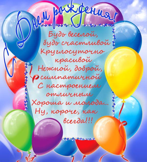 С днем рождения открытка с шарами, гифки