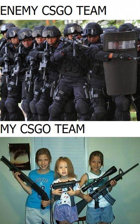 My team vs enemy team on csgo