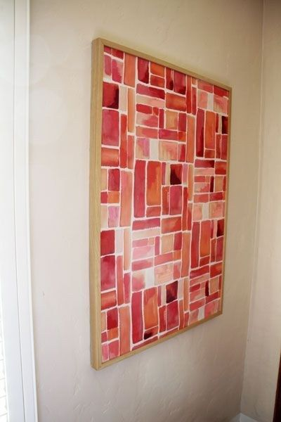 Frame fabric and add paint embellishments. | Community Post: 22 Incredibly Easy DIY Ideas For Creating Your Own Abstract Art