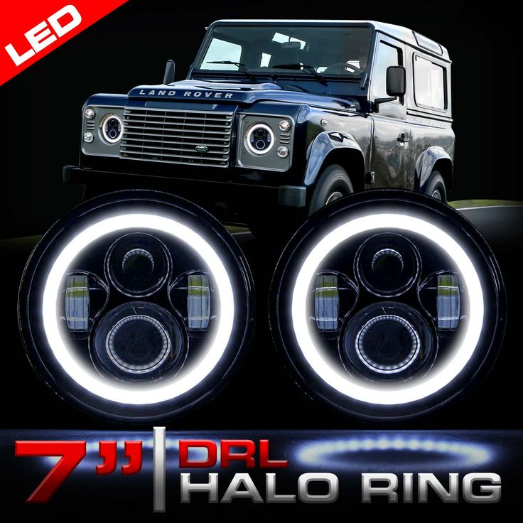 LED headlights for the Land Rover Defender