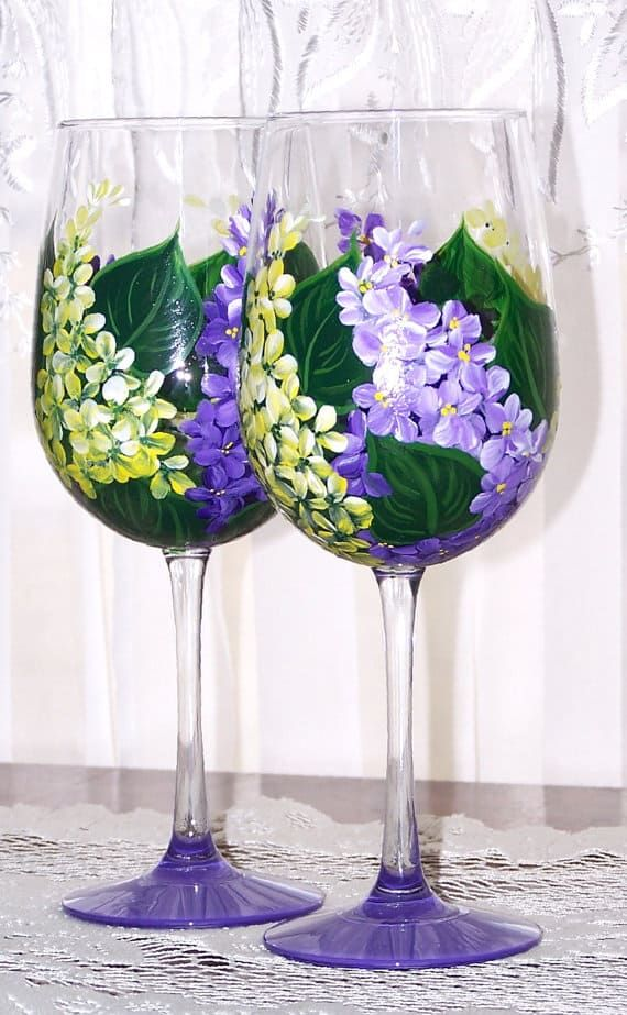 Learn The Basic Tips And Tricks On How To Paint Glass Homesthetics Inspiring Ideas For Your Home Painting Glassware Wine Art Designs