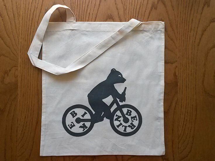 Berlin Bear on Bike Cotton Tote via Tribe of E. Click on the image to see more!