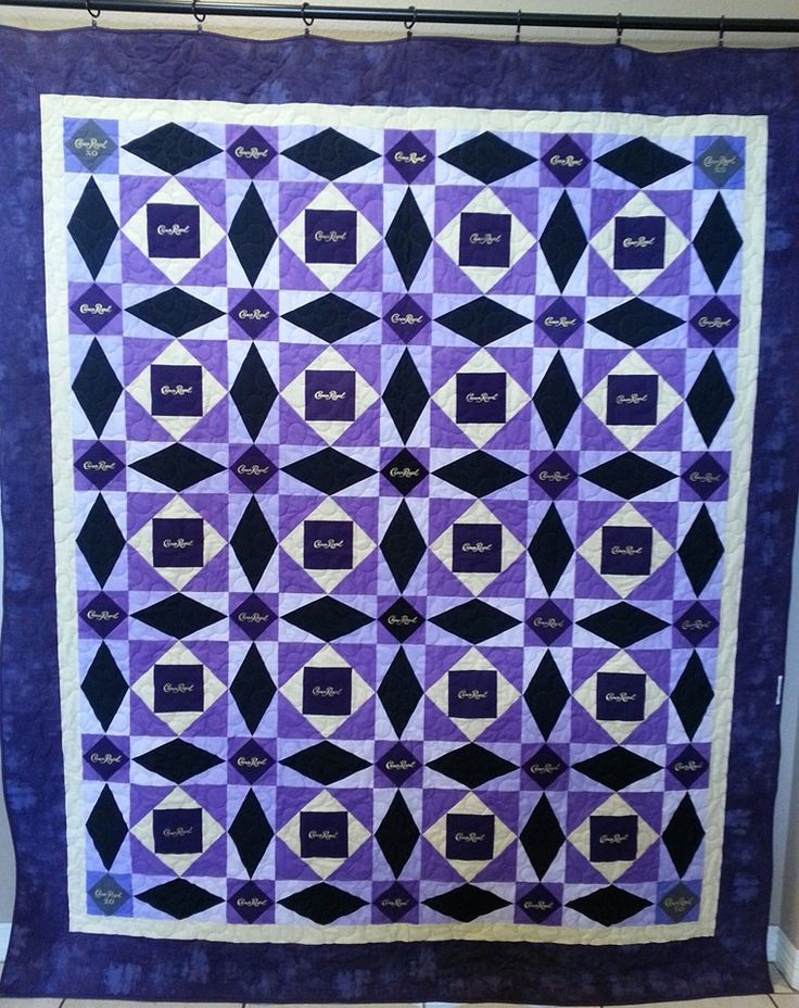 "Crown Royal Quilt it's name is ""Drunken Tsunami"" by La'Glenn Designs. Storm at…"