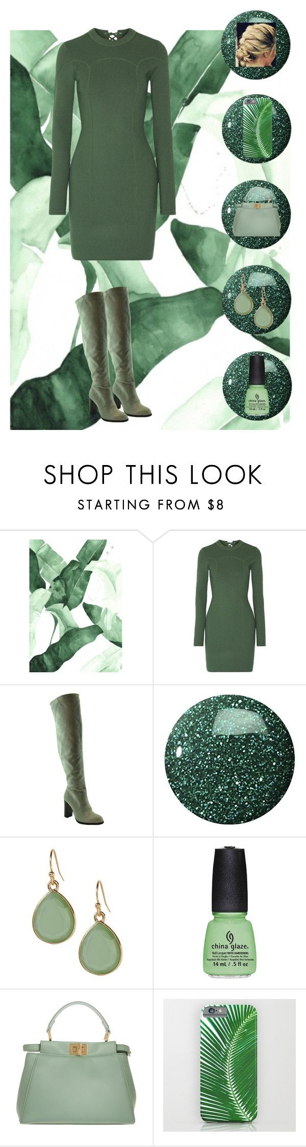 """""""green"""" by doggyrules on Polyvore featuring 3.1 Phillip Lim, Zoya, Banana Republic, China Glaze and Fendi"""